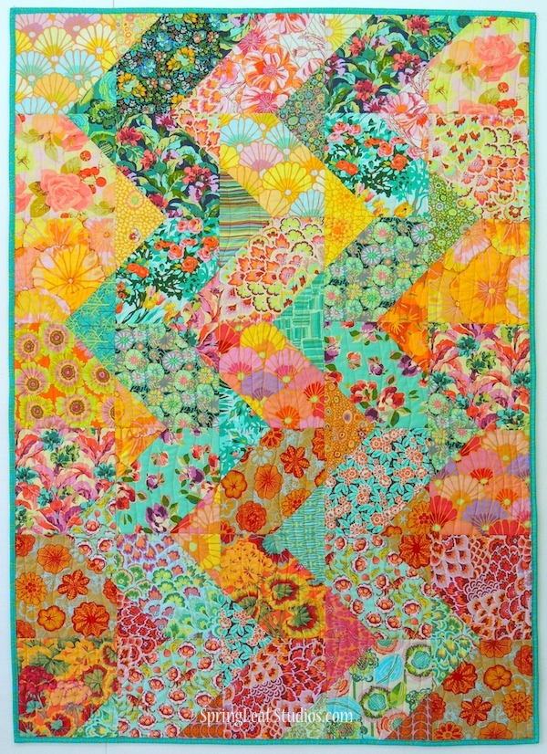 Cascade quilt pattern, Springleaf Studios, Amy Butler