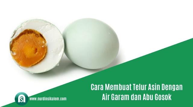 Cara membuat telur asin dengan abu gosok/batu bata