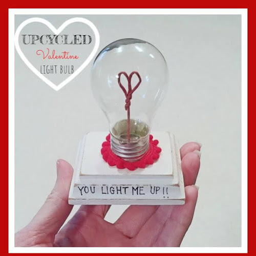 Upcycled Valentine Lightbulb