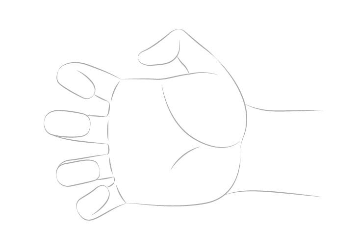 Gambar bentuk tangan mencapai