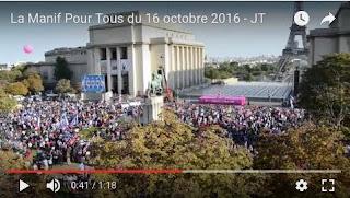 La manif pour tous du 16 octobre 2016-JT