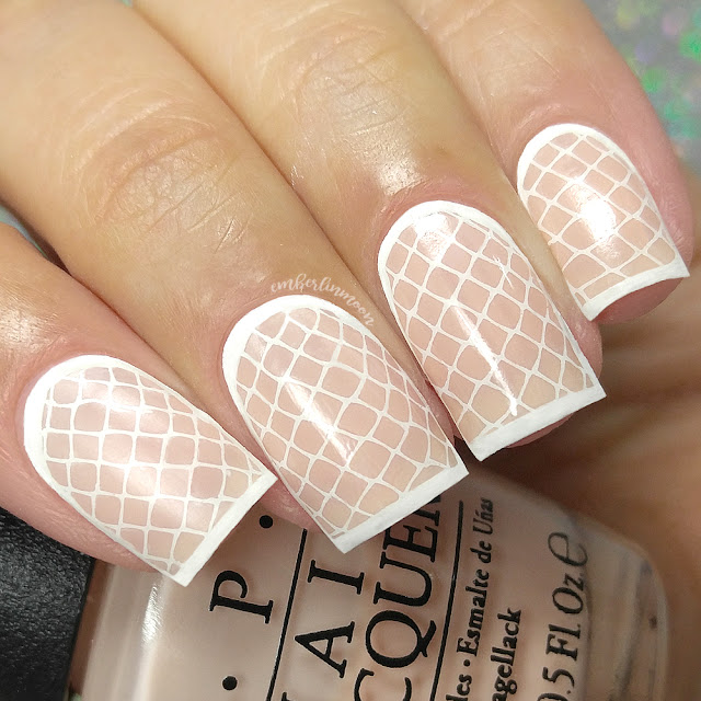 Valentine's Day Nail Art | Stamped Lace