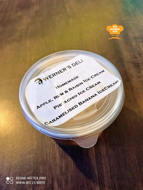 Werner's Deli Menu - Home Made Ice Cream