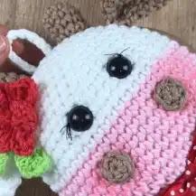 Porta Toallas Vaquita a Crochet
