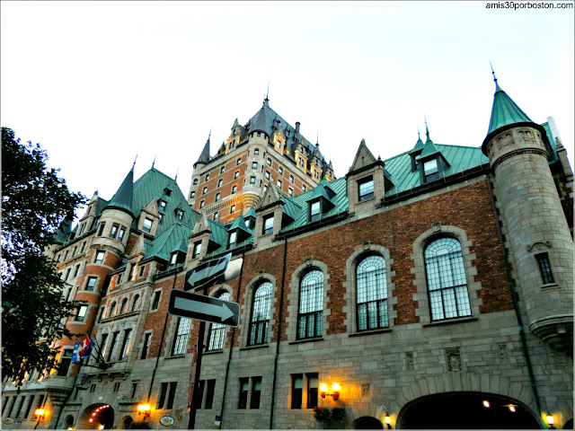 Hotel Castillo de Frontenac en Quebec, Canadá