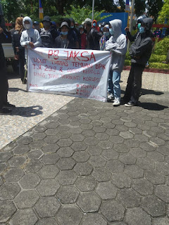 Jaringan Aktivis Mahasiswa Indonesia Gelar Aksi Demo di 5 Kantor Dines Di Pinrang