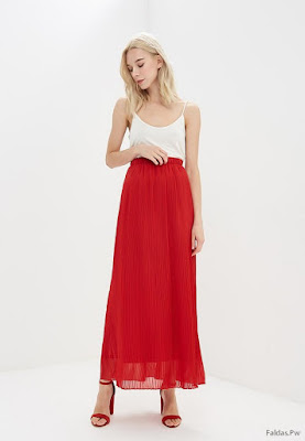 Faldas Largas Rojas
