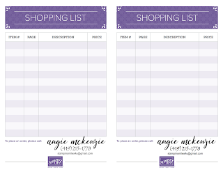 APM Creations | 2018-2019 Stampin' Up Annual Catalog Shopping List