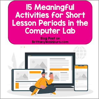 Short lesson period for technology class? That's no reason to give up on your students engaging in something meaningful in the computer lab!