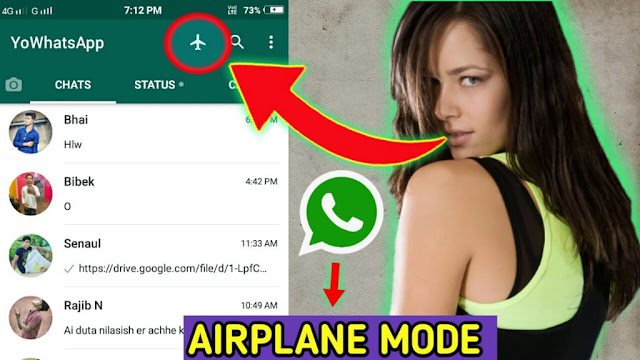 How to use airplane mode on whatsapp, What is Yo WhatsApp airplane mode, Yo WhatsApp airplane mode