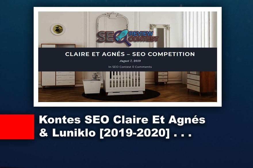 Kontes Seo Terbaru 2019-2020 [Claire Et Agnés & Luniklo]