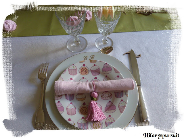 "Décoration de table ""délicates gourmandises"""