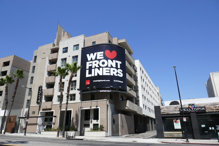 We Love Frontliners Outfront billboard