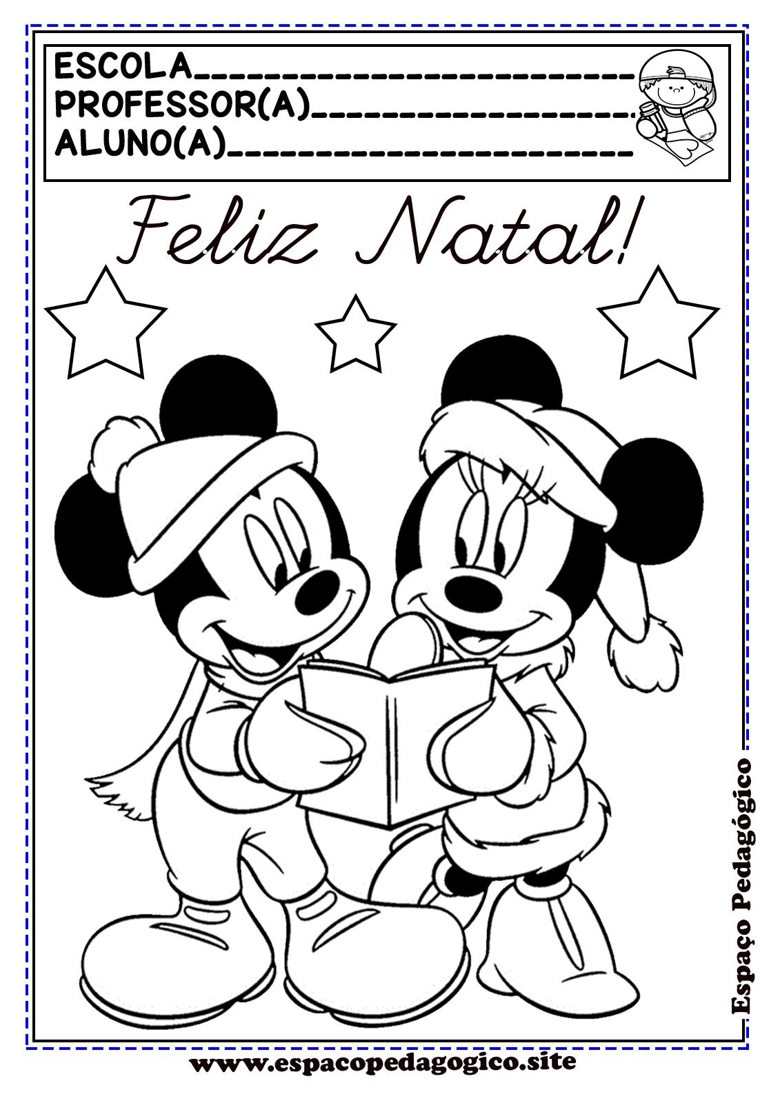 Capas De Prova Ou Portfolio Com O Tema Mickey E Minnie Disney No