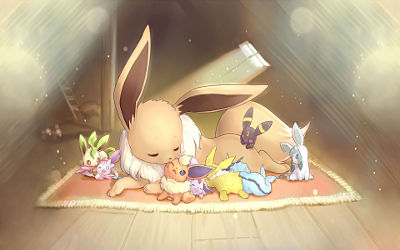 Pokemon Petite Famille Mignonne - Fond d'écran en Full HD 1080p