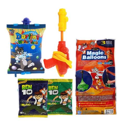 Tom And Jerry Holi Water Gun Pichkari Back Pack Licenced Product With 111 Magic Balloon And 2 Ben 10 Gulal