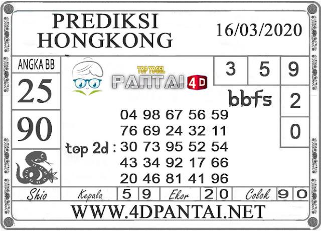 PREDIKSI TOGEL HONGKONG PANTAI4D 16 MARET 2020