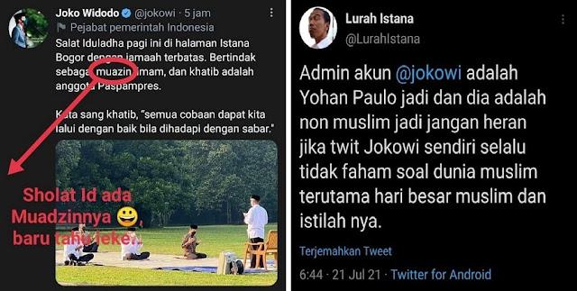 Admin Akun Jokowi Non-Muslim?