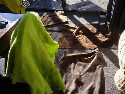 wool blanket dyeing