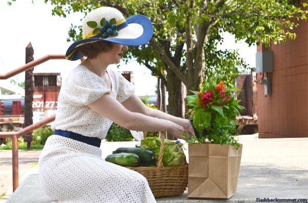 Flashback Summer: Springfield, Missouri C-Street Farmer's Market, 1930s Dress