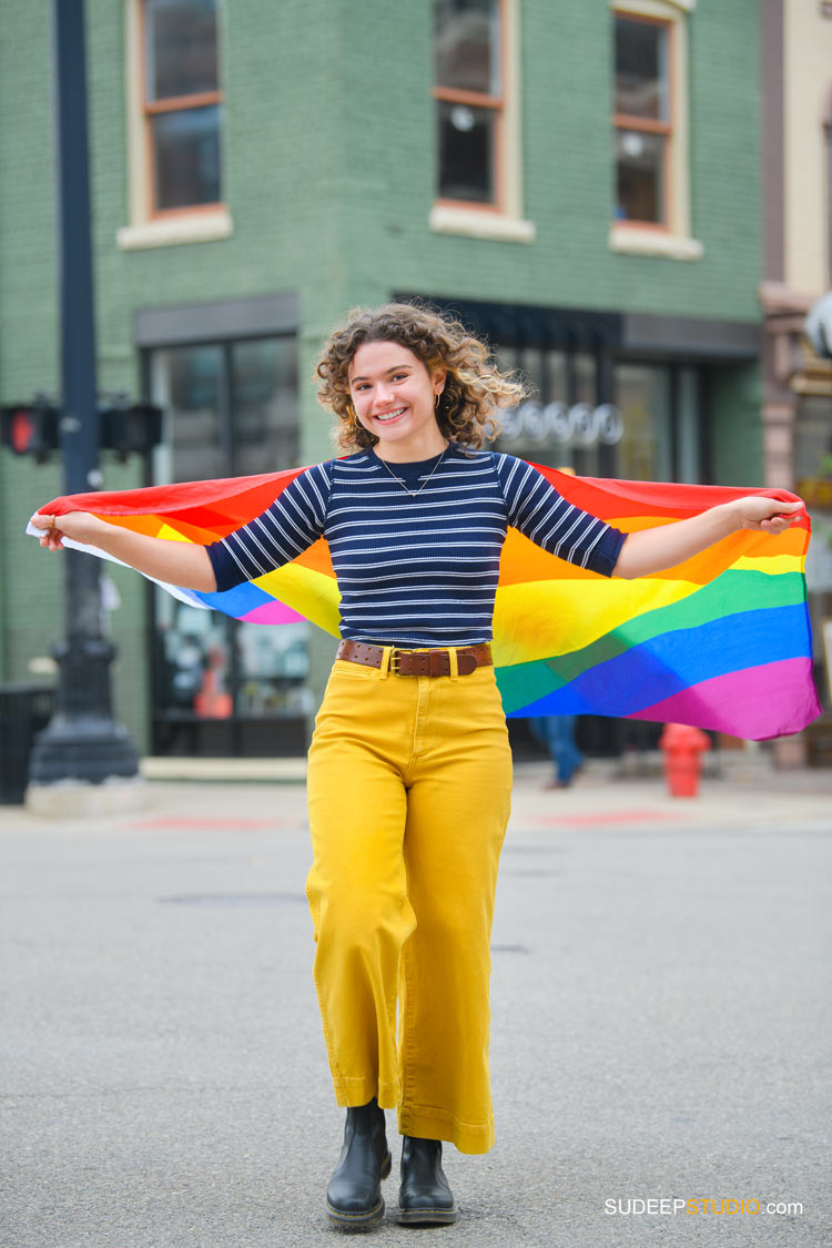 Ann Arbor Senior Pictures for Girls LGBTQ Pride by SudeepStudio.com Ann Arbor Senior Pictures Photographer