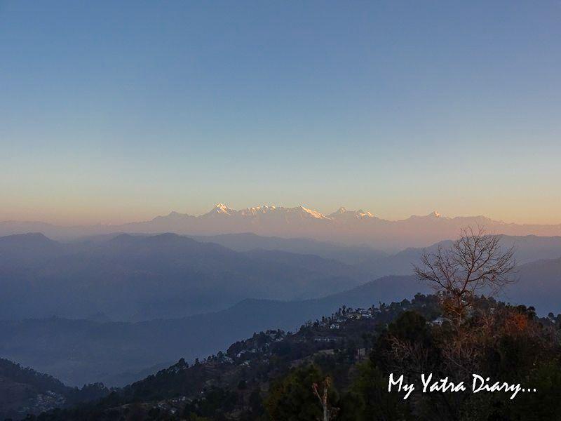 Early morning sunrise at Alhito cafe, Kasar Devi Uttarakhand