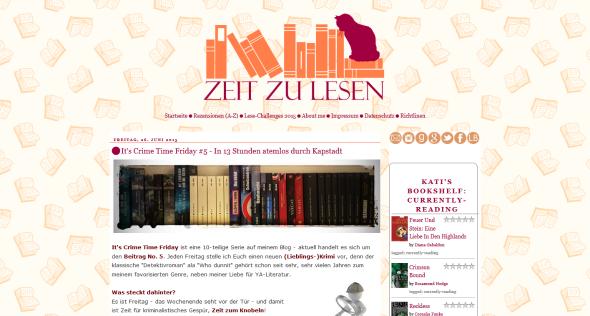 http://zeitzulesen.blogspot.de/