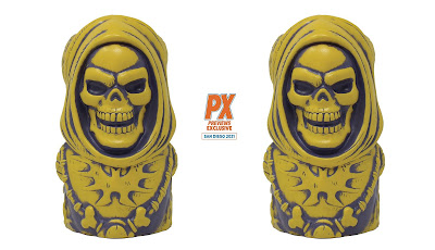 San Diego Comic-Con 2021 Exclusive Masters of the Universe Skeletor Bone Yellow Variant Tiki Mug by Mondo