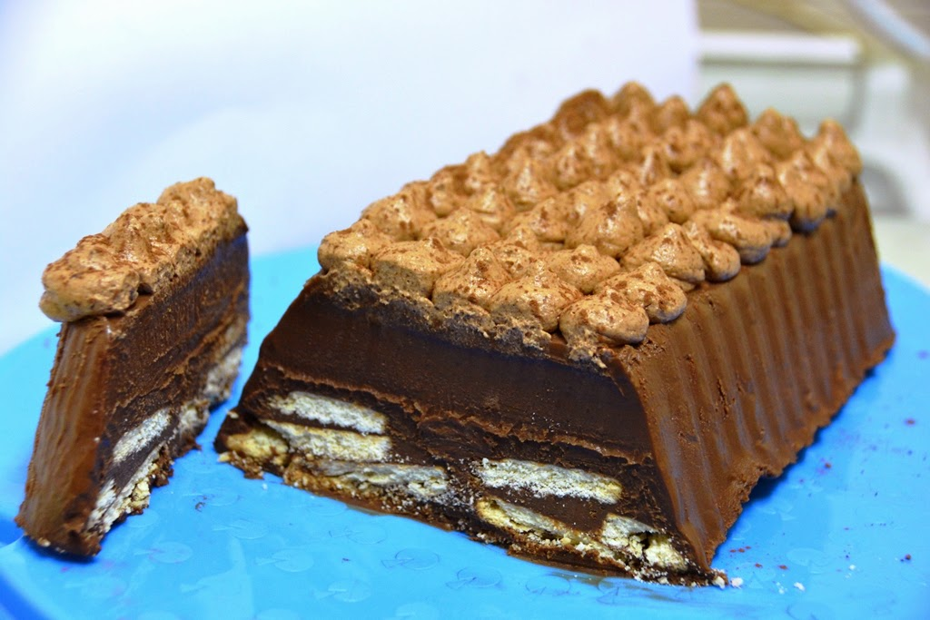 scrumptious chocolate biscuit cake