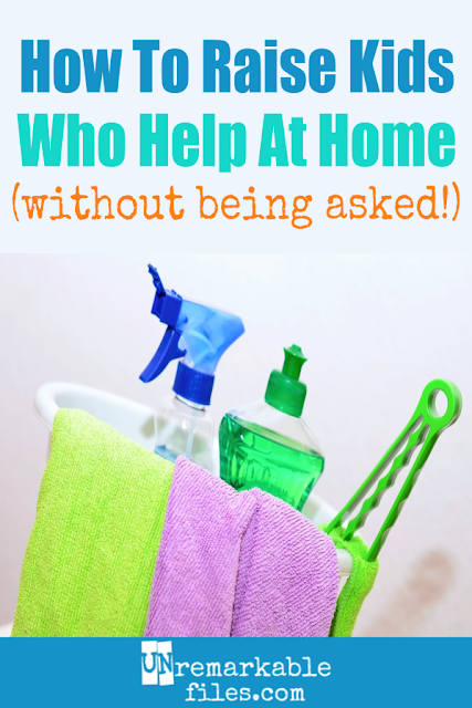 Everyone compliments my kids on what hard workers they are, and I have to admit they're right. If you're wondering how to get your kids to do chores, or you can't get your kids to help around the house without whining and complaining the whole time, try these tips that worked for us. (Hint: it goes beyond just chore charts.) #chores #kids #housework #choresbyage #parenting #parentingtips #unremarkablefiles