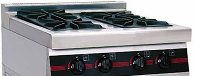 Bếp âu 4 họng lò nướng