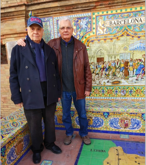 Los ajedrecista Jaume Anguera y Emili Simóm