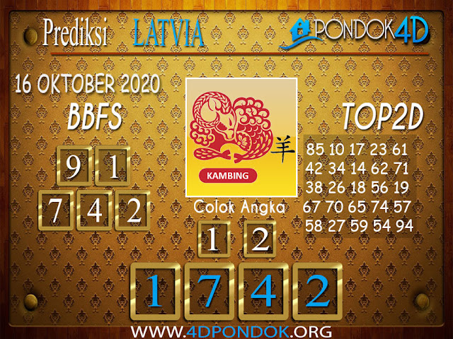 Prediksi Togel LATVIA PONDOK4D 16 OKTOBER 2020
