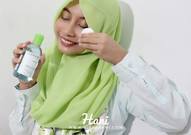 Cara penggunaan Bioderma Sebium H2O Micellar Water