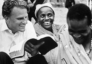 Billy Graham explaining the Bible