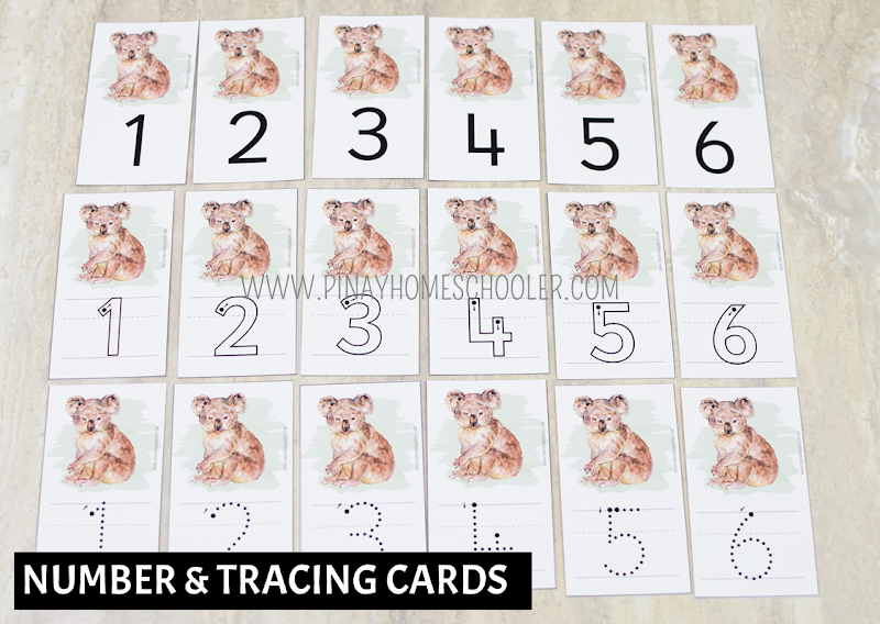 Oceania Australia Themed Math - Number and Tracing Cards