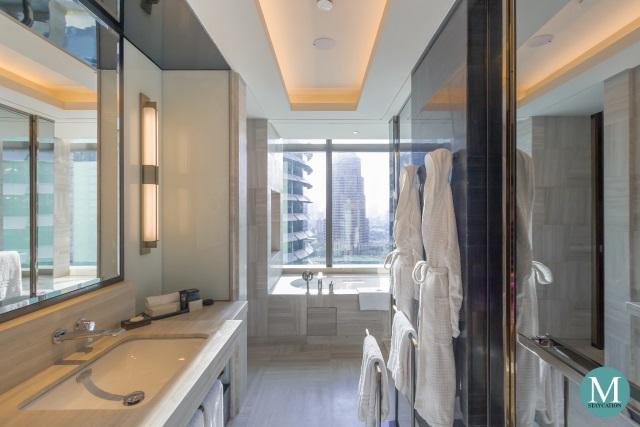 bathroom of the Junior Suite at Four Seasons Hotel Kuala Lumpur