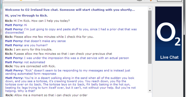 Livechat O2