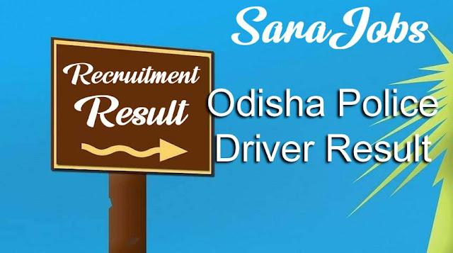 Odisha Police Driver Result