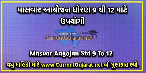 Masvar Aayojan Std 9 To 12   Varshik Aayojan Std 9 To 12 2021-22