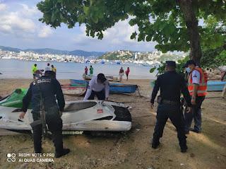 Respalda SSP retiro de embarcaciones chatarras de las playas