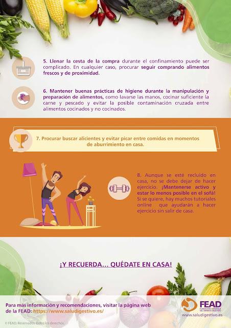Recomendaciones nutricionales durante el confinamiento (FEAD)