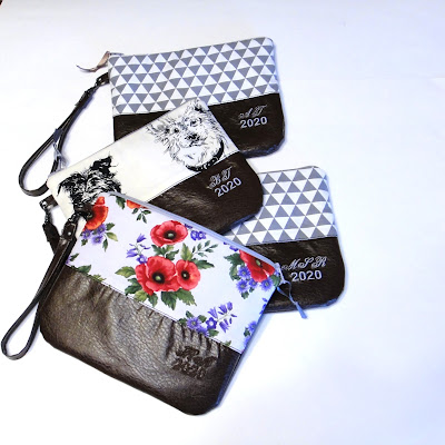 Женская сумка на запястье с монограммой, персональный подарок девушке. Искусственная или натуральная кожа на заказ
