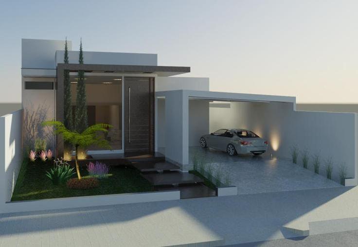Construindo minha casa clean fachadas de casas quadradas for Casas modernas terreras
