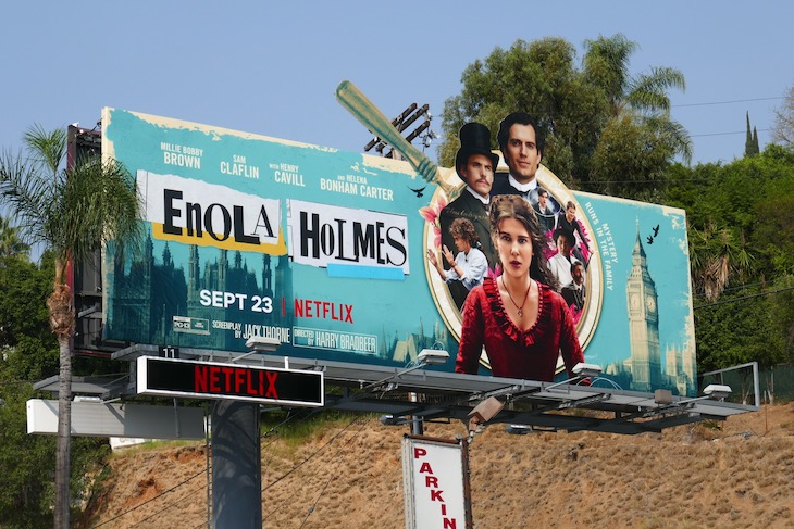Enola Holmes Netflix film billboard