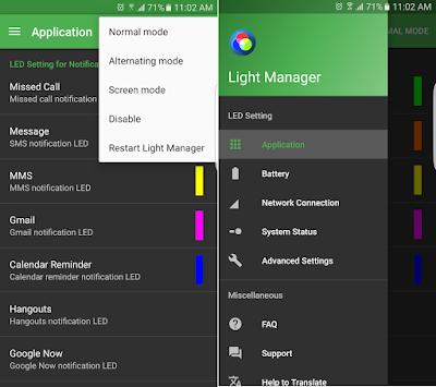 Tampilan Aplikasi Light Manager Pro