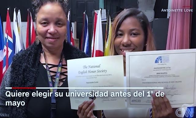 Antoinette Love, la estudiante que logró US$ 3,7 millones en becas universitarias