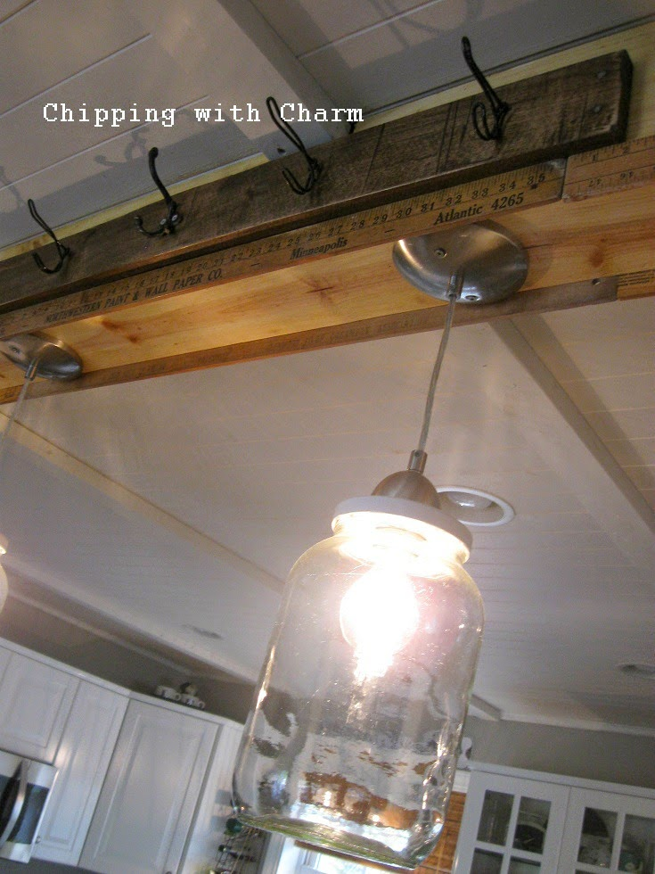 Chipping with Charm: Pickle Jar Light Fixture...http://www.chippingwithcharm.blogspot.com/