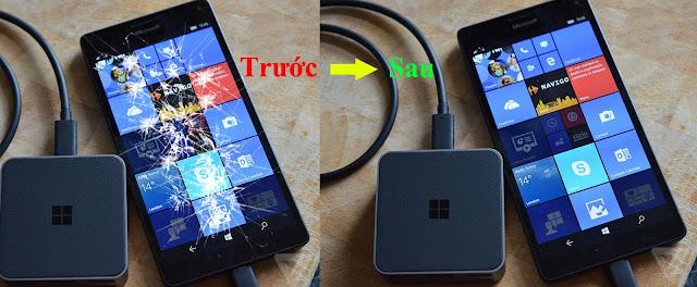 Hoàn tất thay mặt kính cho Nokia Lumia 950