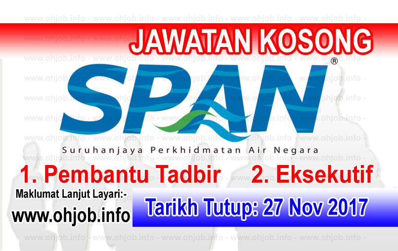 Jawatan Kerja Kosong SPAN - Suruhanjaya Perkhidmatan Air Negara logo www.ohjob.info november 2017